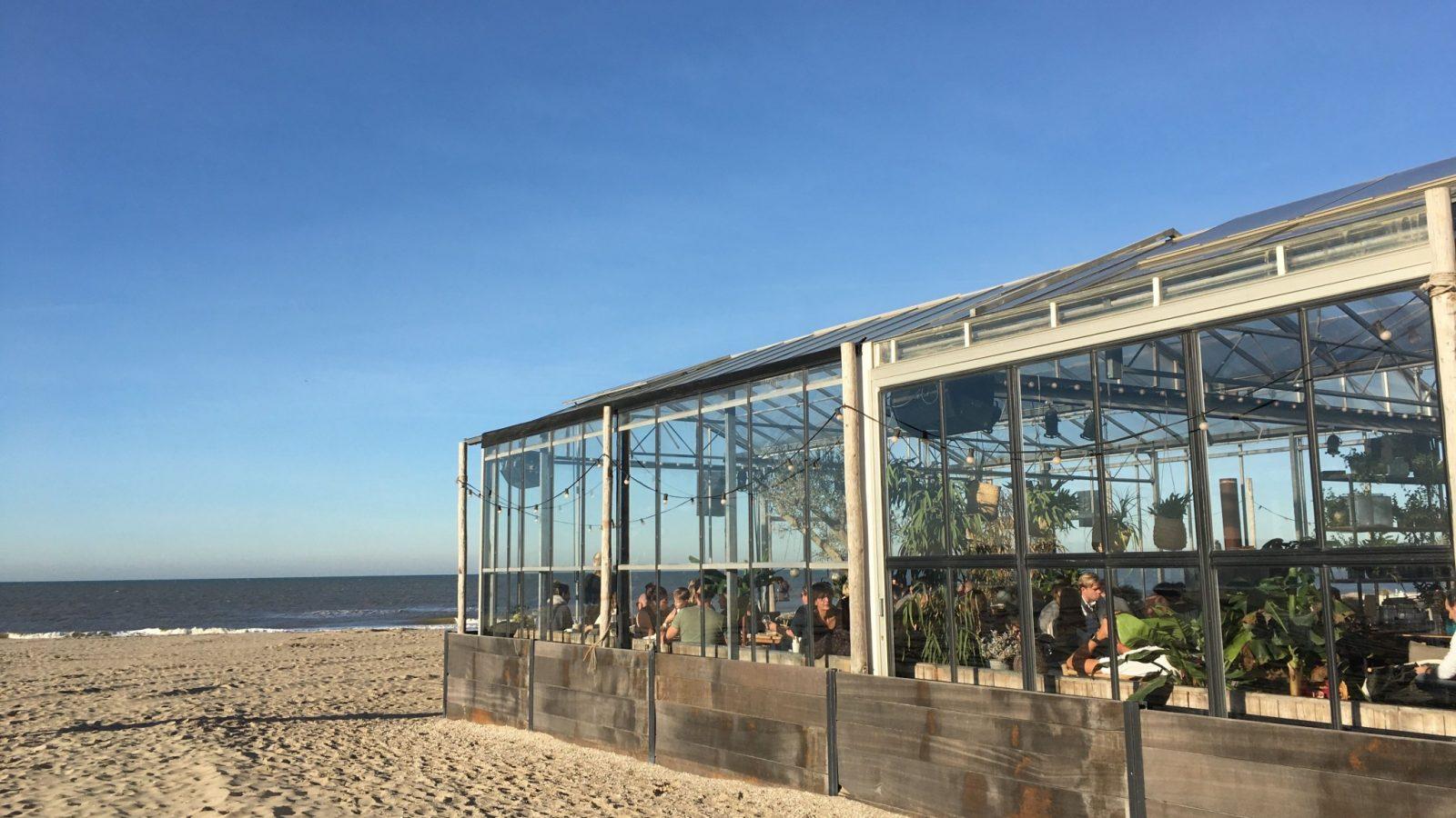Winterlodge strandtent Noordwijk
